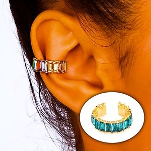 ⚜️[𝟯/$𝟮𝟴]⚜️Turquoise Crystal Ear Cuff Wrap NEW
